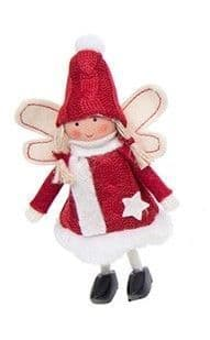 Xmas Craft Standing Angels Red